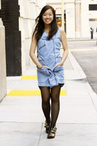 light blue jack dress - black Dolce Vita for Target boots