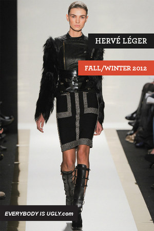 black herve leger dress