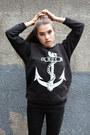 black The orphans arms sweatshirt