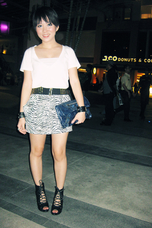 Gaudi top - Coco Pink skirt - Orange belt - From China shoes - balenciaga purse