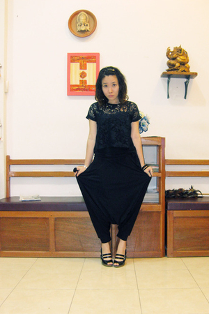 thrifted top - top - pants - Charles &amp; Keith shoes