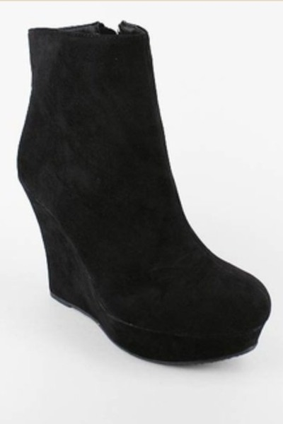 black suede GoJane wedges