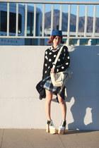 navy Muzi Q skirt - blue Chictopia hat - black BCBGeneration sweater