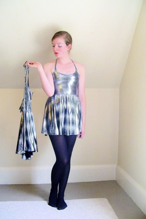Wet Seal dress - CVS tights