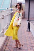 cream floral print Choies blazer