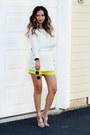 White-calvin-klein-sweater-chartreuse-queenhorsfall-closet-shorts