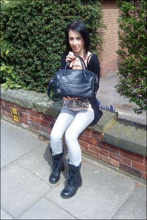 silver Topshop jeans - black Topshop purse