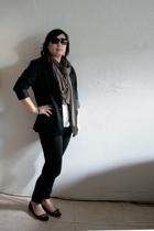 Gap blazer - forever 21 pants - H&M t-shirt - H&M scarf