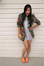 Red-thrifted-blazer-white-thrifted-dress-orange-thrifted-shoes-orange-h-m-