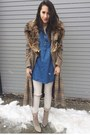 Beige-aldo-shoes-dark-brown-thrifted-vintage-coat-white-gap-jeans