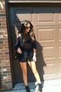 Black-h-m-boots-blue-thrift-sweater-black-hermes-bag-black-vintage-shorts