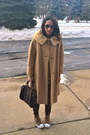 Dark-brown-louis-vuitton-bag-bronze-thrifted-vintage-coat
