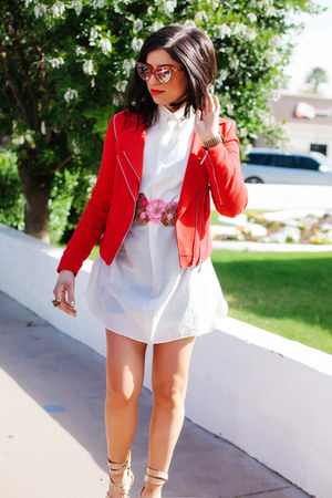 motorcycle 1 State jacket - shirt H&M dress - Miu Miu sunglasses