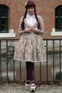 Maroon-c-a-tights-off-white-bodyline-wedges-eggshell-lolita-handmade-skirt