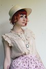 Off-white-bodyline-shoes-beige-c-a-hat-pink-bodyline-skirt