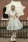 Lime-green-lolita-handmade-skirt-off-white-parasol-btssb-accessories
