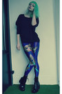 Blue-lovelysally-leggings-black-new-yorker-sweatshirt-black-vagabond-heels