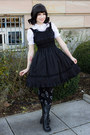 Black-lolita-btssb-dress-black-wig-lockshop-hair-accessory