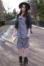 Heather-gray-midi-dress-missguided-dress