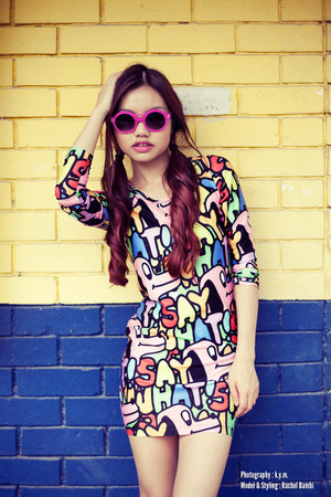 Lazy Oaf dress - quay sunglasses