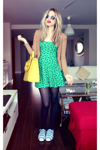 H&M dress - Zara jacket - Superga sneakers