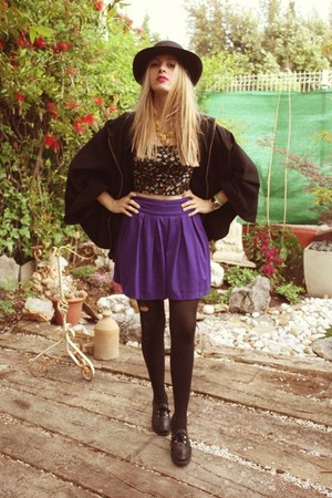 Primark skirt - H&amp;M cape - Primark top