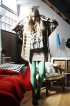 H&M skirt - H&M skirt - thrifted blouse