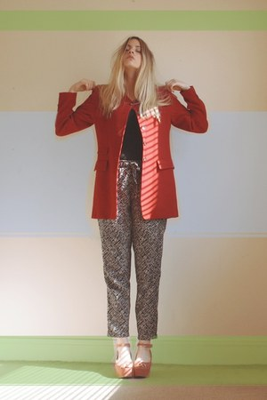 thrifted blazer - Primark pants