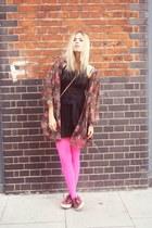 thrifted vintage jacket - Zara dress - Superga sneakers