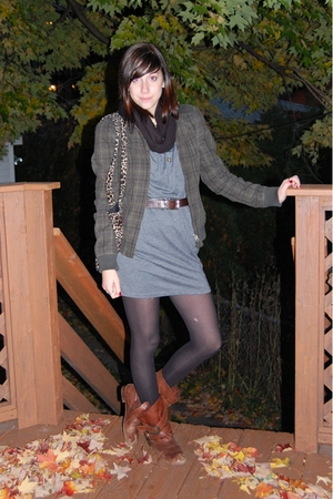 BDG dress - - scarf - purse - tights - Blowfish boots