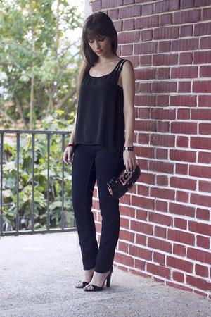 black Yoyomelody top - Zara shoes - denim Levis jeans - Guess bag