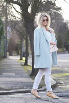 light blue OASAP coat - heather gray River Island jeans