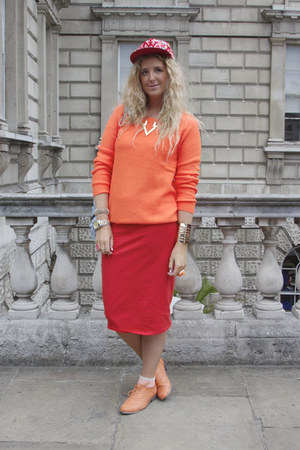 carrot orange Primark shoes - carrot orange H&M sweater