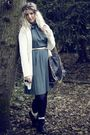 Blue-vintage-dress-beige-primark-cardigan-beige-primark-socks-black-market