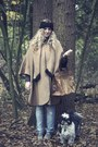 Camel-vintage-coat-light-blue-zara-jeans-camel-primark-shoes-black-h-m-hat