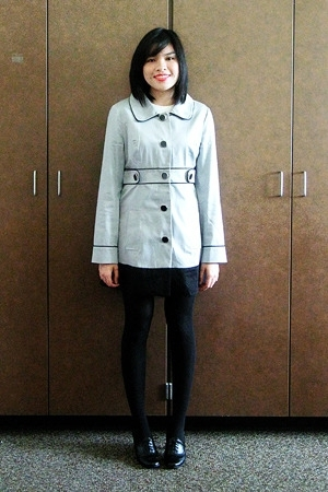 coat - merona tights - payless shoes - Mossimo shirt