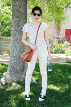 white Payless shoes - peach Mossimo jeans - brown Ross bag