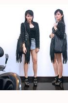 Spanish Moss Vintage blazer - Topshop - Topshop skirt - Topshop - Zara top - Man