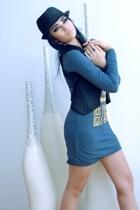 Izabellis dress - Topshop hat - Topshop vest - Zara shoes