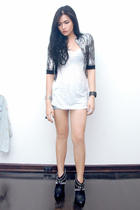 Anthology jacket - Topshop top - Zara shorts - Zara boots