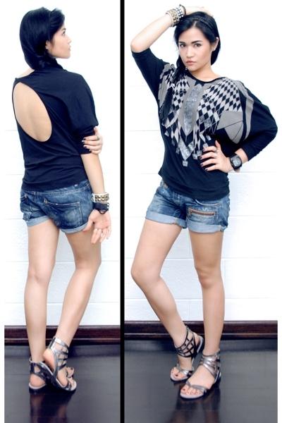 Topshop top - Zara shorts - Topshop shoes