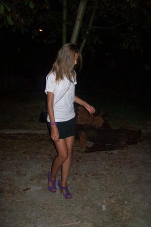 skirt - shoes - purse