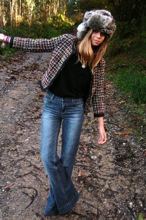 hat - pants - blouse