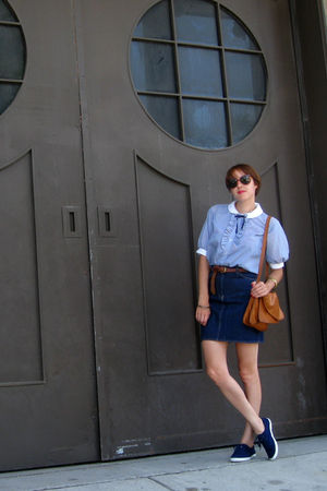 vintage blouse - vintage skirt - vintage accessories - vintage shoes