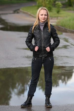 boots - jeans - Bershka jacket