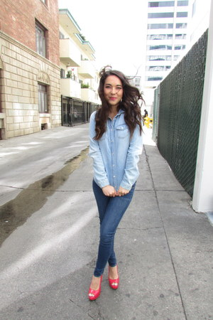 denim Topshop shirt - skinny jeans Gilly Hicks jeans