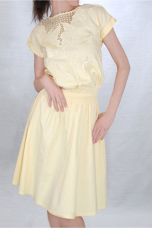 light yellow unknown brand dress