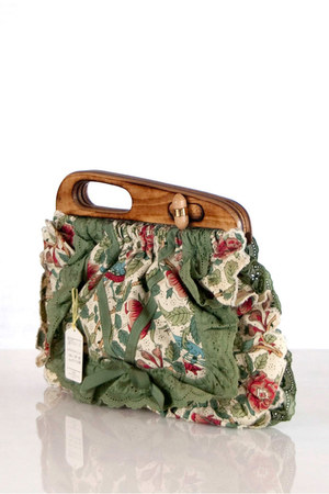 cloth and wood Liberty of London bag