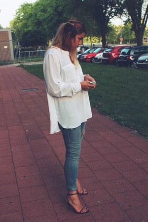 H&M jeans - H&M shirt - Zara sandals