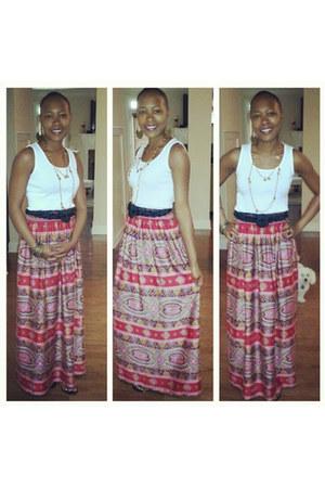 vintage skirt - Forever 21 top